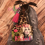 Red Dirt Rebel Ear Tag Key chain