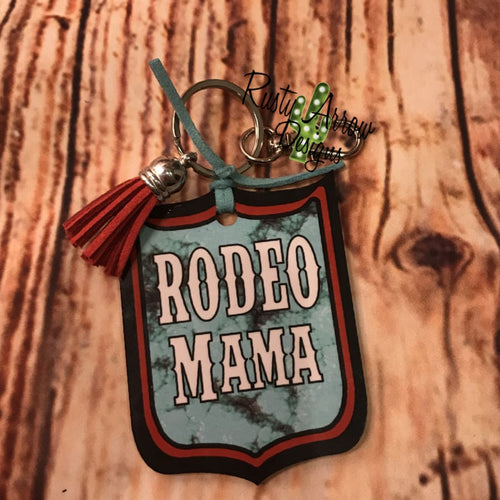 Rodeo Mama Rodeo Back Tag Key Chain
