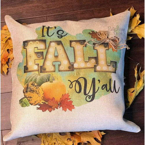 Rustic Its Fall Yall Decorative Throw Pillow - Pillow