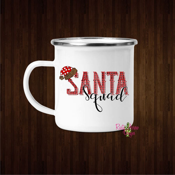 Santa Squad 11oz Metal Camp Mug - Mug