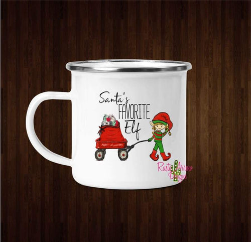 Santas Favorite Elf Coffee Mug - 11 oz. Camp Cup Mug Stainless Steel - Mug