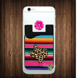 Serape and Cheetah Texas Cell Phone Credit Card Caddy - Card Caddy