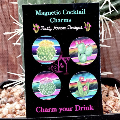 Serape Cactus Magnetic Cocktail Charms