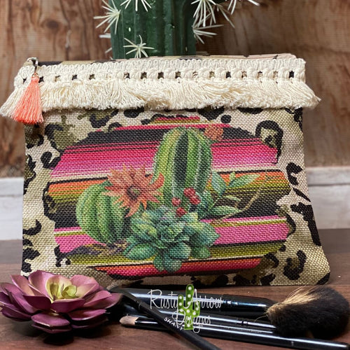 Serape Desert Makeup Cosmetic Bag