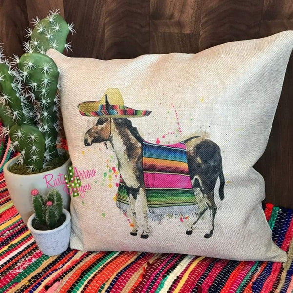 Serape Donkey Decorative Throw Pillow - Pillow