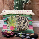 Serape Hard to Handle Makeup Cosmetic Bag