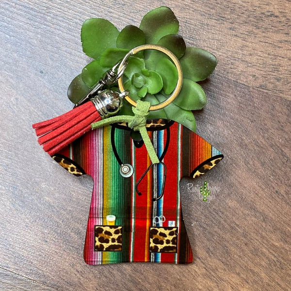 Serape Nurse Scrub Key chain
