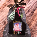 Show Queen Livestock Ear Tag Key Chain