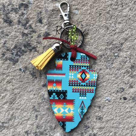 Purple Desert Arrow Head Key Chain