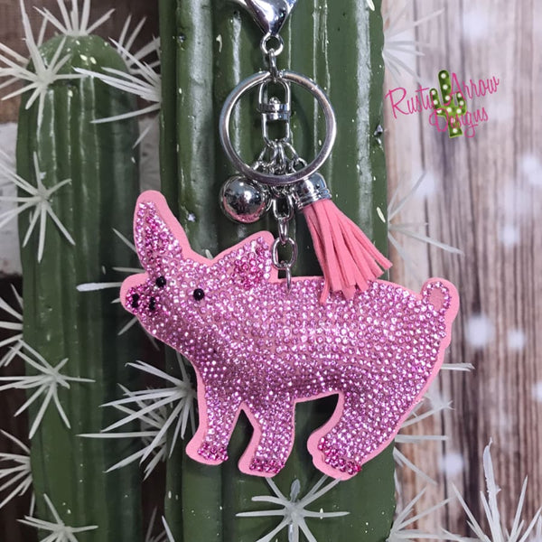Sparkle Piggy Key Chain