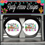 Stay in Your Own Lane Set of 2 Car Coasters - Car Coasters