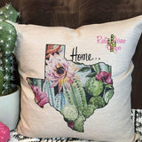 Texas is Home Pillow Cover - pillows
