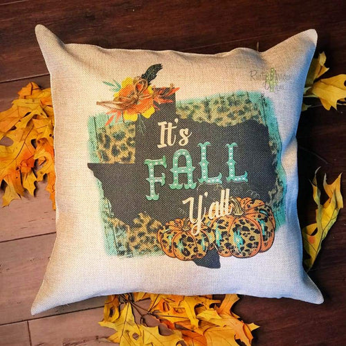 Texas Its Fall Yall Decorative Throw Pillow - Pillow
