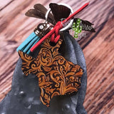 Tooled Leather Texas - Texas Key Chain