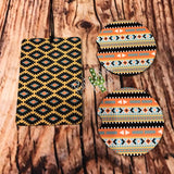 Tribal Air Freshener and Coaster Set Yellow 1 - Air Freshener