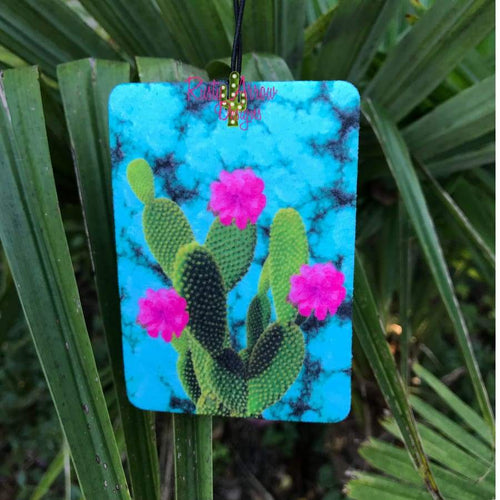 Turquoise Slab with Cactus Highly Scented Air Freshener - Air Freshener