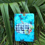 Turquoise Slab with Plaid Pumpkin Highly Scented Air Freshener - Air Freshener