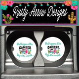 Vintage Camper What Happens at the Camper Stays at the Campsite Set of 2 Car Coasters - Car Coasters