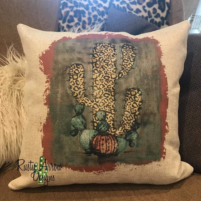 Vintage Leopard Pumpkin Decorative Throw Pillow - Pillow