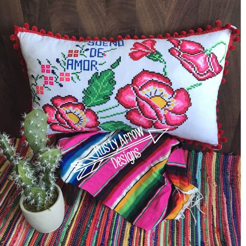 Vintage Mexico pillow - pillows