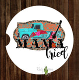 Vintage Truck Mama Tried Set of 2 Car Coasters - Car Coasters