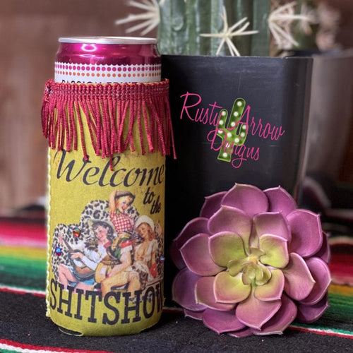 Welcome to the Shitshow Fringe Bottle or Can Slim Koozie - Koozie