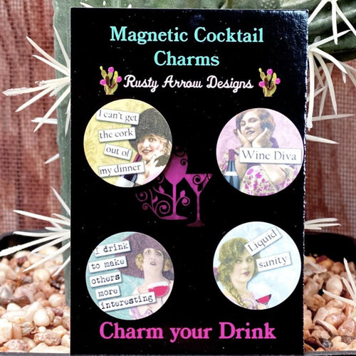 Wine Diva Magnetic Cocktail Charms