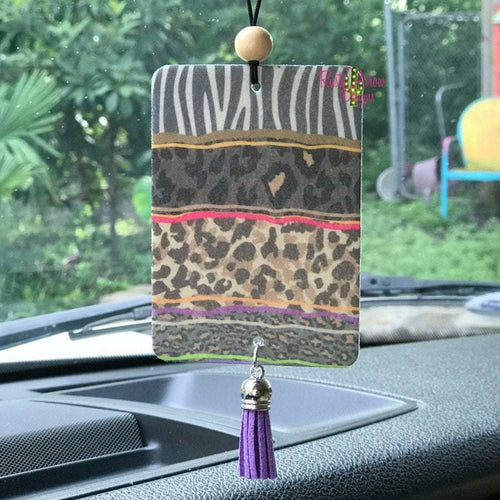 Zebra and Cheetah Scented Car Air Freshener - Air Fresheners