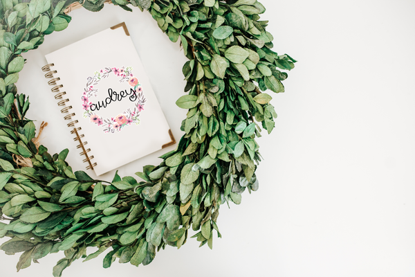 Vine and Peony Wreath Decal - Audrey