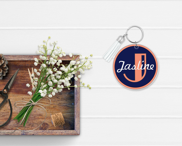 Personalized Keychain - Art Deco