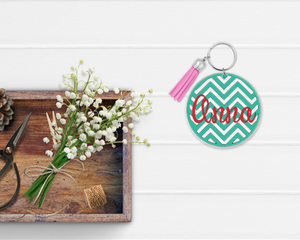 Fun Backgrounds Personalized Keychain