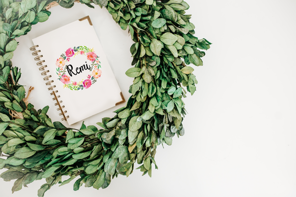 Bright Peonies Wreath Decal - Remi