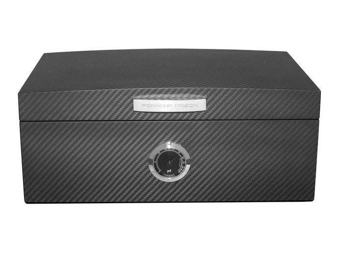 Porsche Design Carbon Fiber and Spanish Cedar Cigar Humidor - Holds 50 Cigars