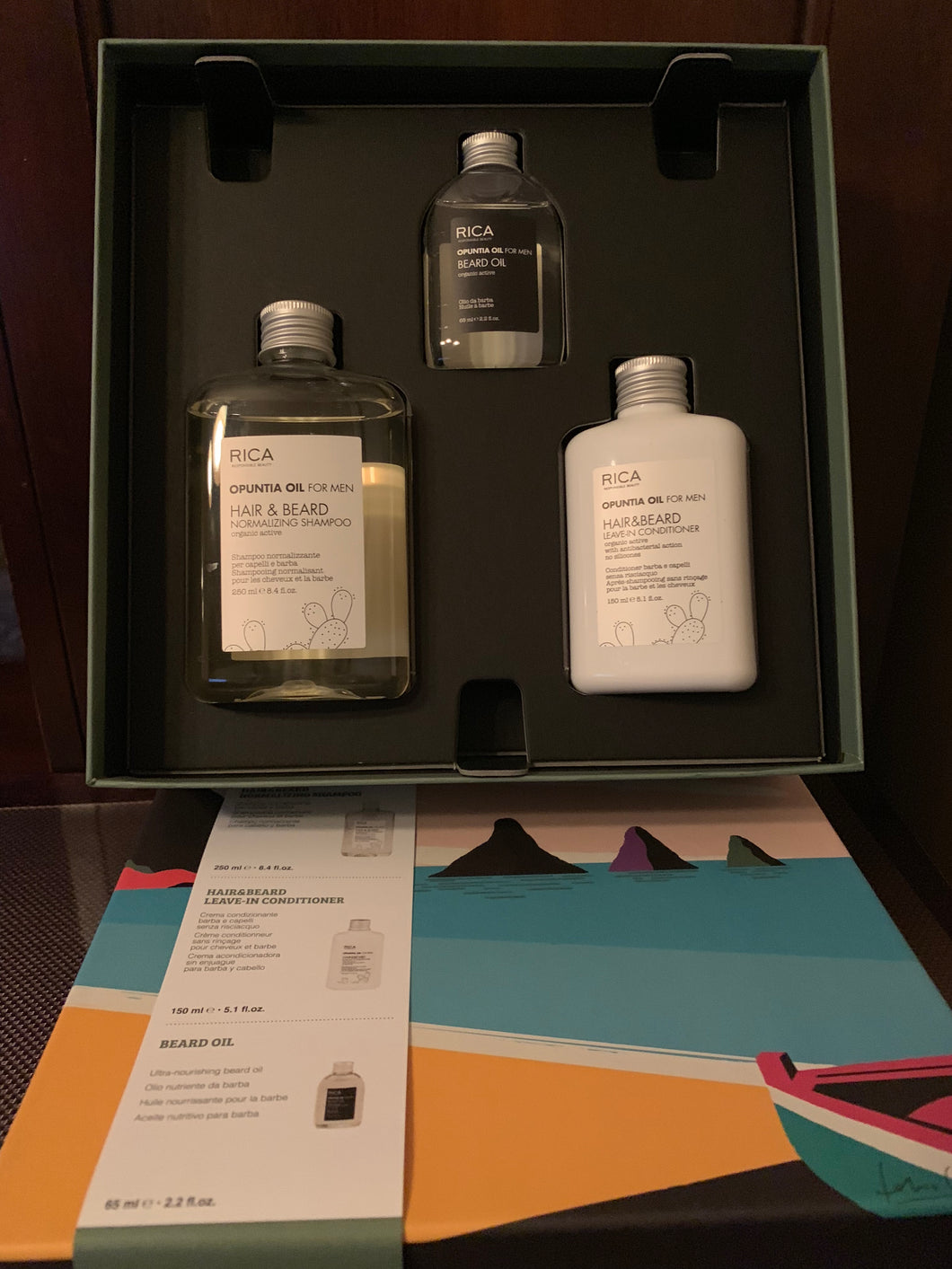 RICA Opuntia Oil Gift set for him...