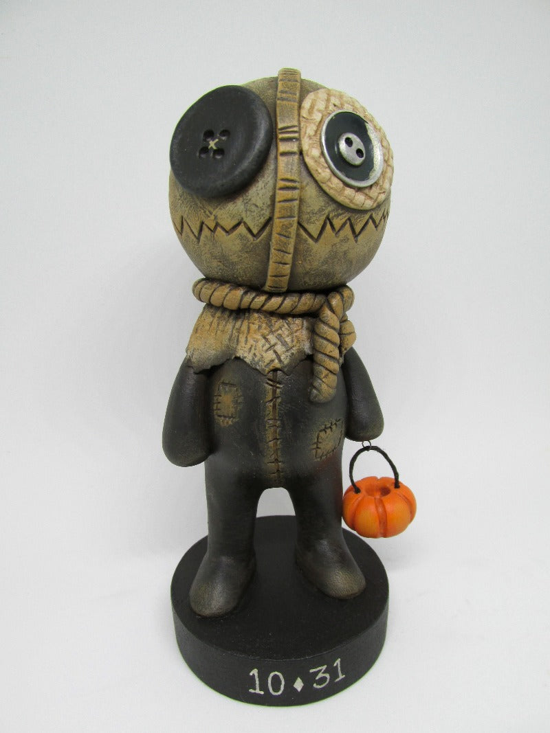 Halloween burlap man trick or treat wow