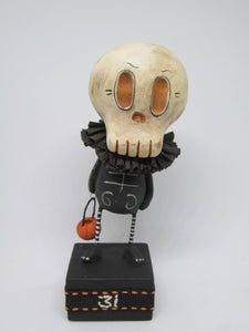 Halloween folk art PAPER CLAY 31 skelly
