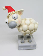 Christmas Sheep with Santa hat