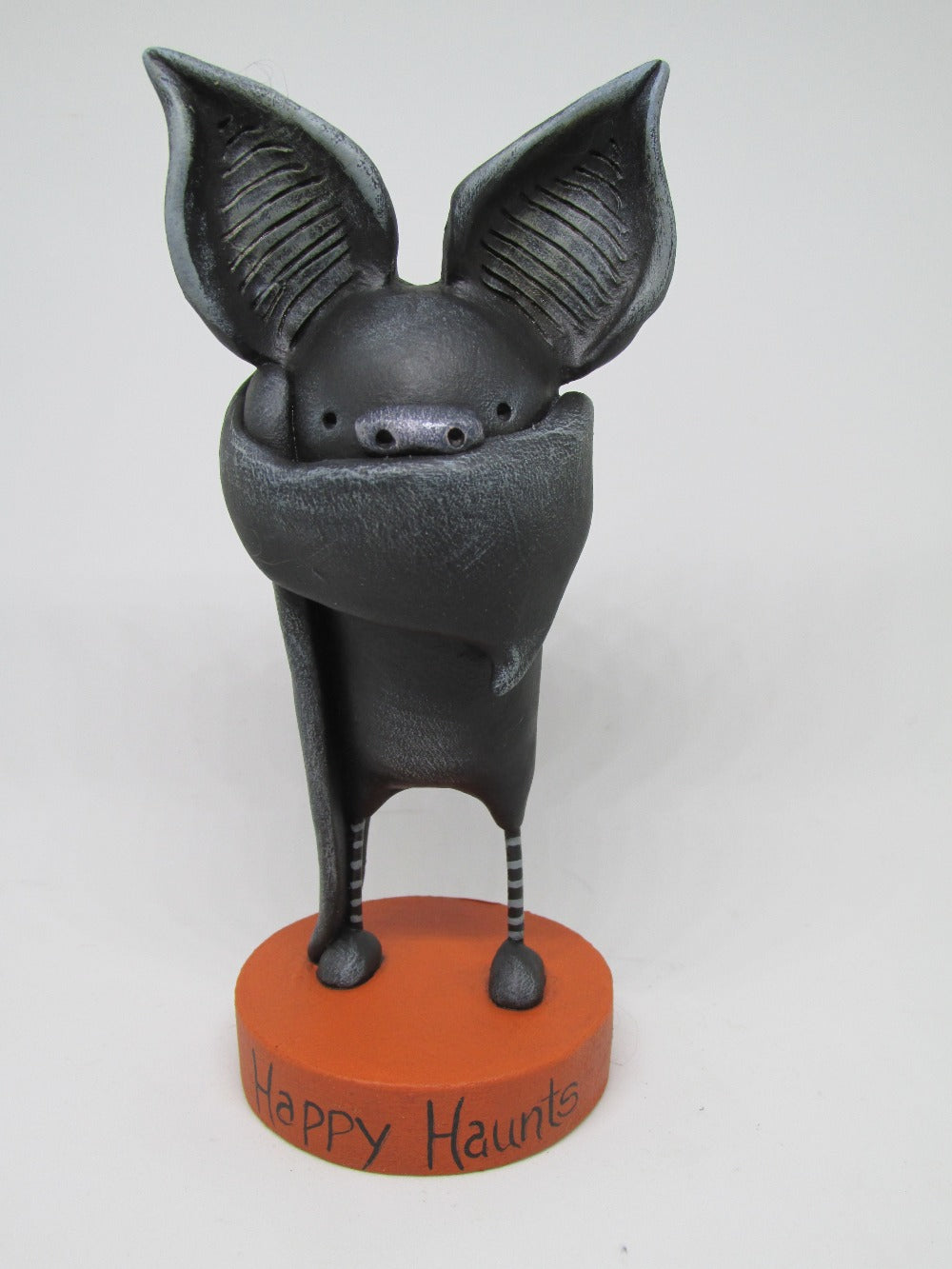 Halloween folk art BAT ADORABLE with big ears!