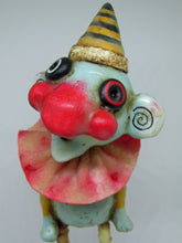 Crazy character with big red nose Clown like - can be monster like or for Halloween?