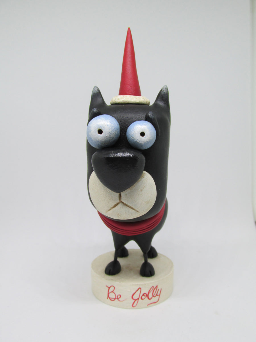 Christmas folk art dog character