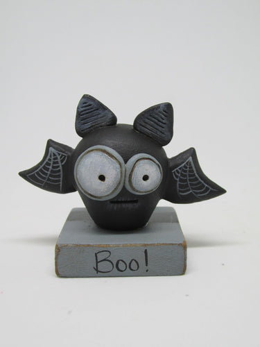 Halloween small spooky bat on