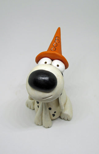 Halloween dog with Witch hat