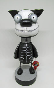Day of the Dead Dog with red skull charm