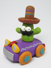 Cinco de Mayo cactus man in car