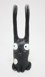 Dark gray bunny with extra tall ears for Easter or anytime