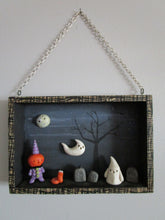 Halloween shadow box spooky scene ready to hang on wall