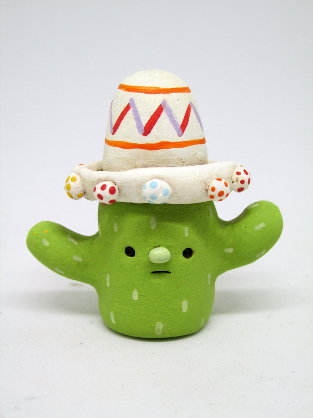 Cinco de mayo mini cactus wearing sombrero art character
