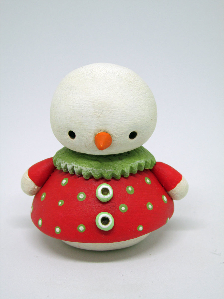 Mini Christmas snow girl wearing dress