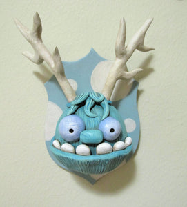 Taxidermy style Monster wacky character on plaque UNIQUE