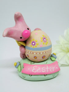 Easter egg and bunny scene unique!